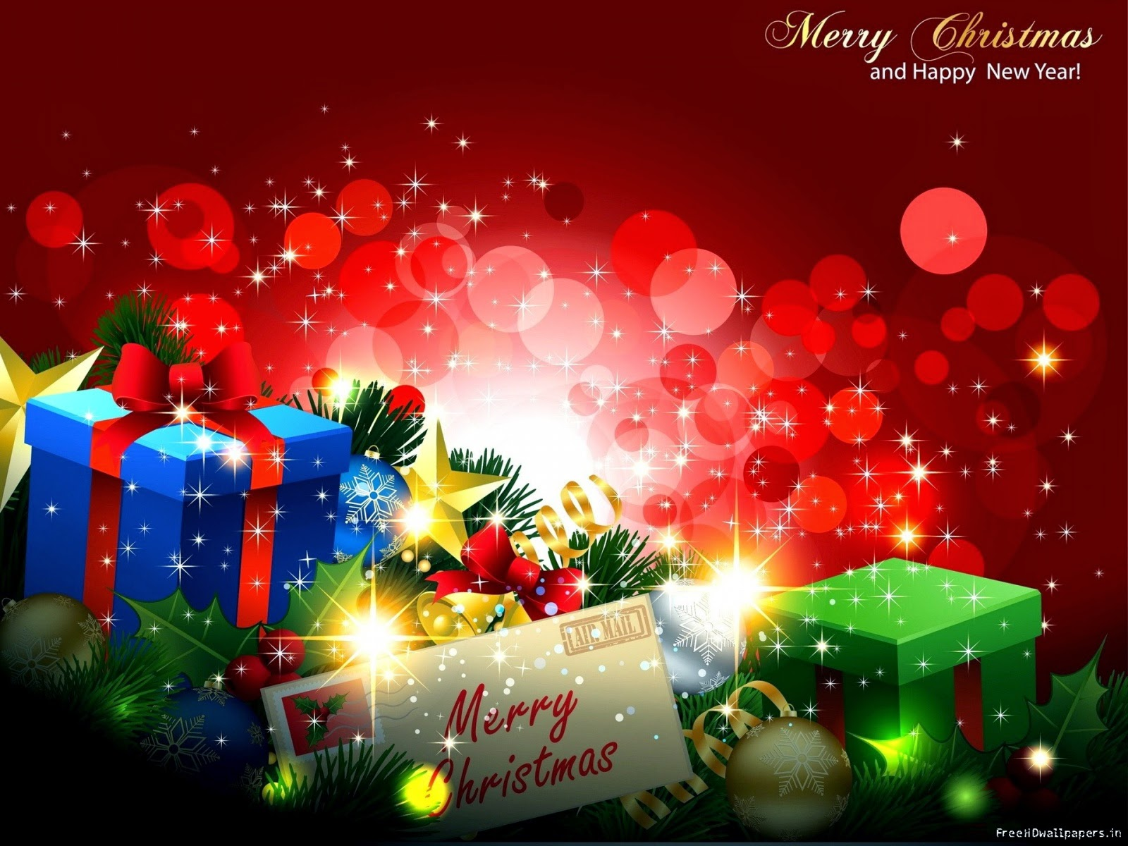 Free Download Merry Christmas Happy New Year 2015 Wallpaper