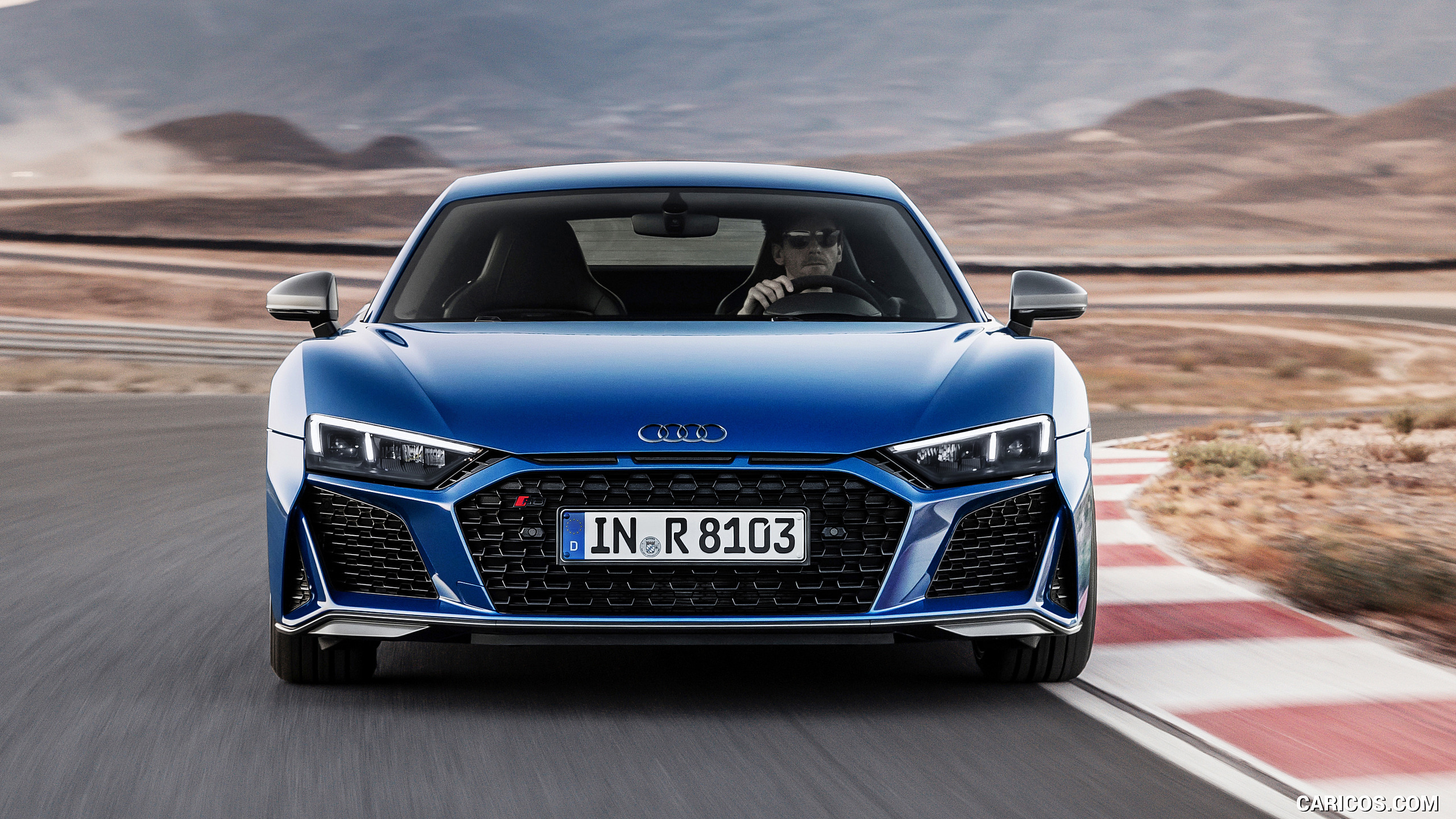 2019 Audi R8 Coupe Color Ascari Blue Metallic   Front HD 2560x1440
