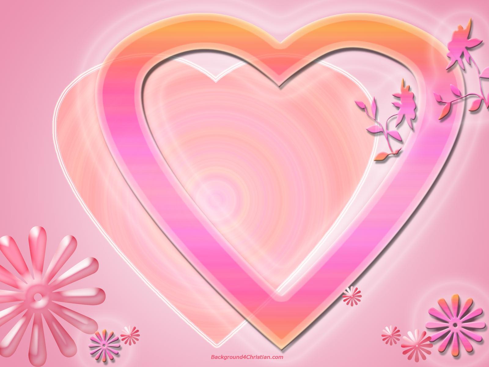 pink valentine heart wallpaper 1600x1200