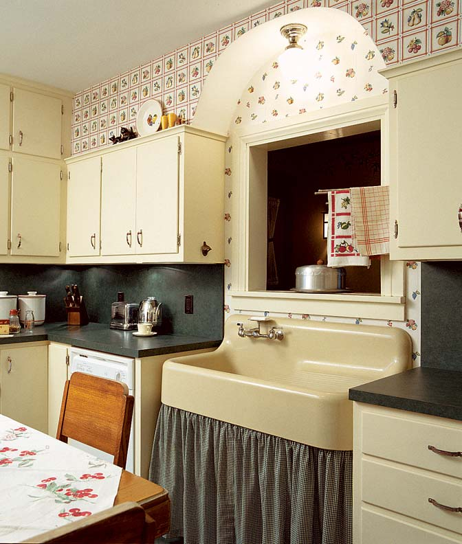 Add Charm with Kitchen Wallpaper   Old House Online   Old House Online 672x792