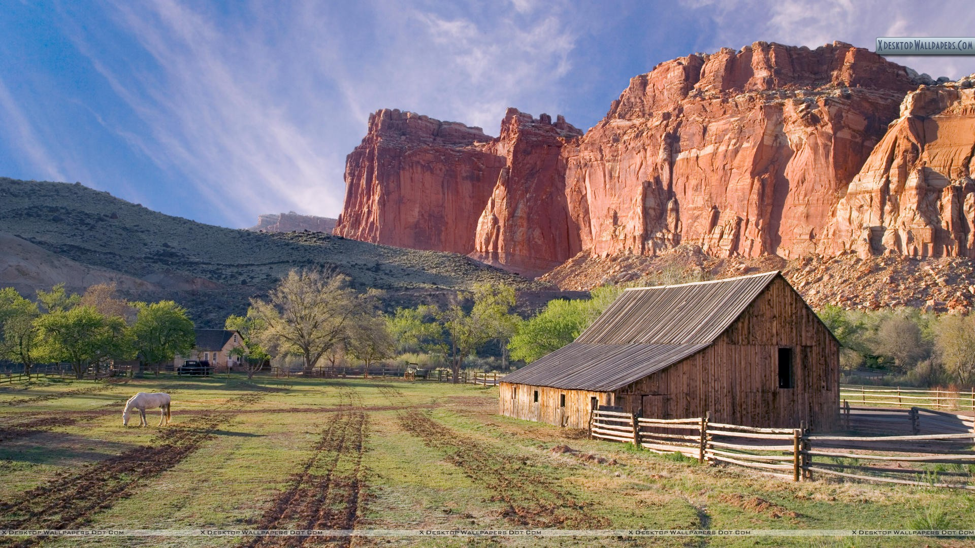 Historic Fruita Capitol Reef National Park Utah Wallpaper 1920x1080