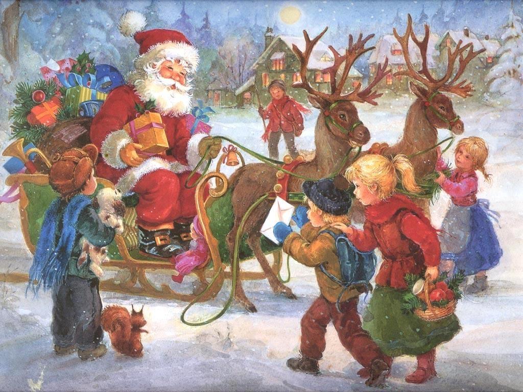 Santa Claus   Christmas Wallpaper 2736295 1024x768