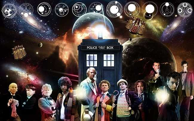 The 11 Doctors Doctor Who Collage [Wallpaper] 650x406