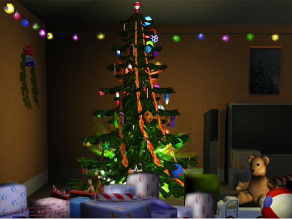 free 3d animated christmas wallpaper 575x432