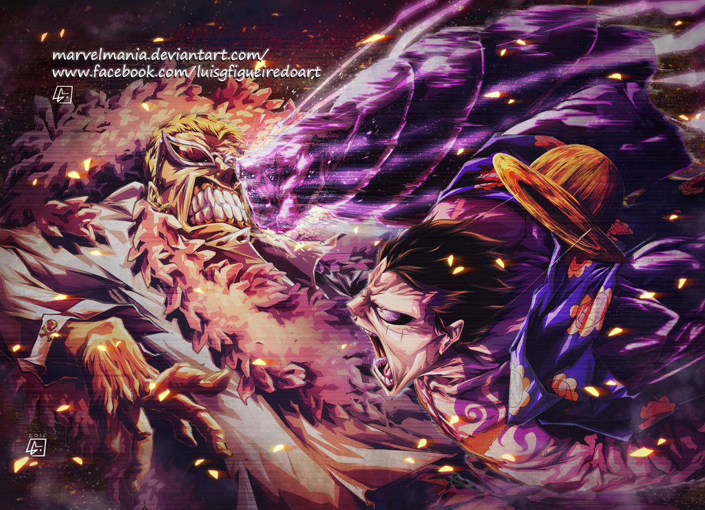 Free Download Luffy Vs Doflamingo Colored By Marvelmania