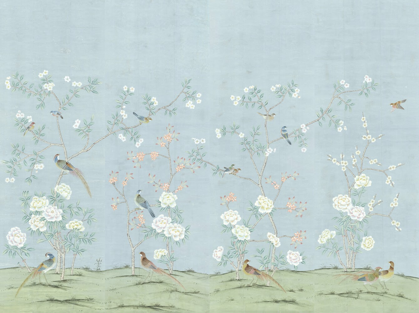 download Peonies and Orange Blossoms Chic Chinoiserie 1339x1000