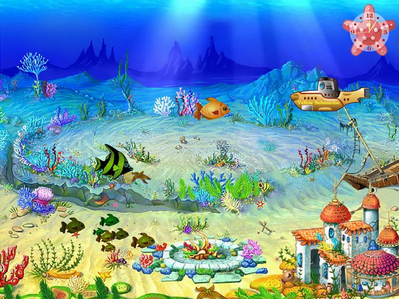 Aqua Screensaver   Aqua Castles   FullScreensaverscom 800x600