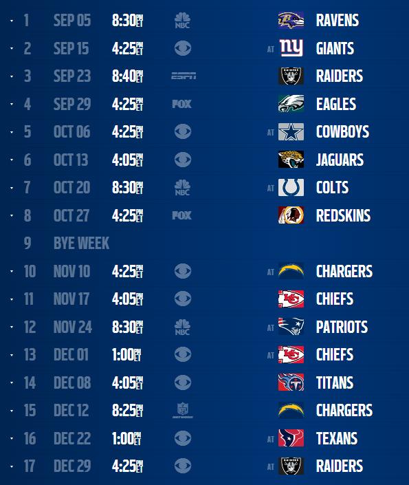 Denver Broncos 2013 Schedule 595x705