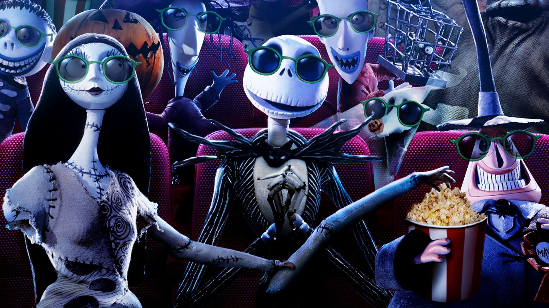 download Jack Skellington And Sally Wallpaper Hd Images 1920x1080