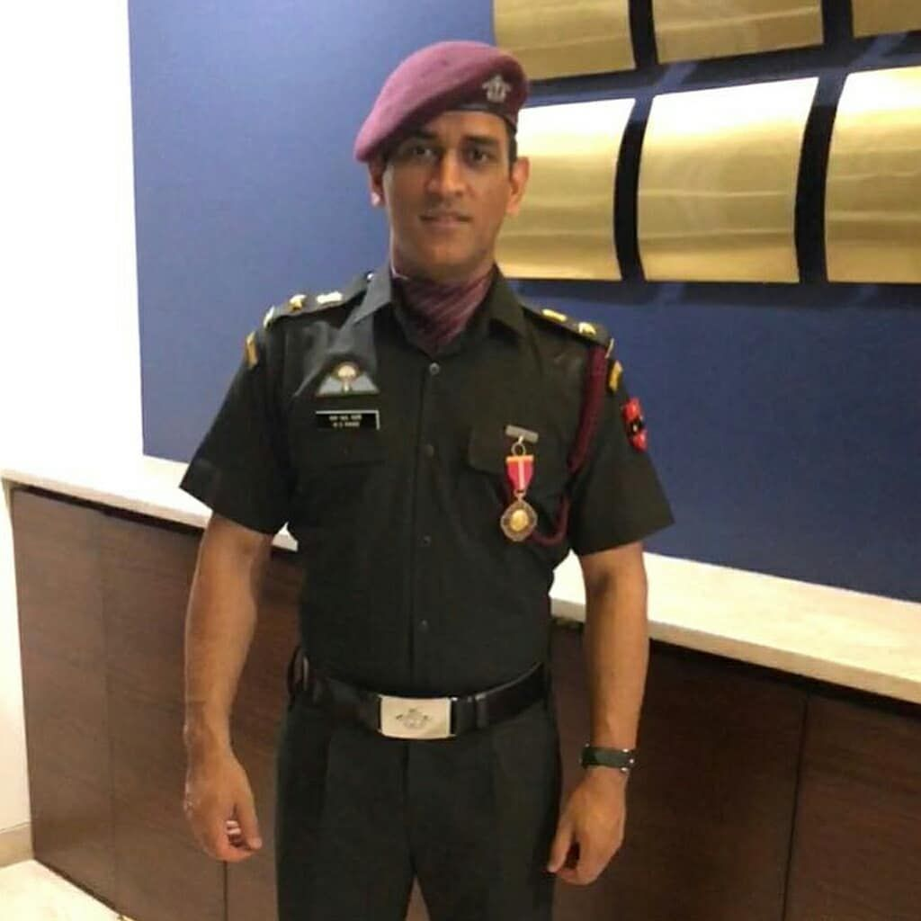 Image may contain 1 person standing Indian army Ms dhoni 1024x1024