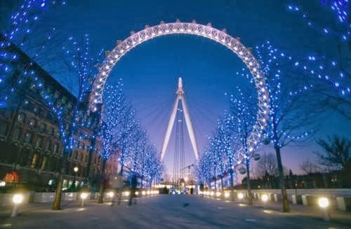 Christmas London Eye 500x327