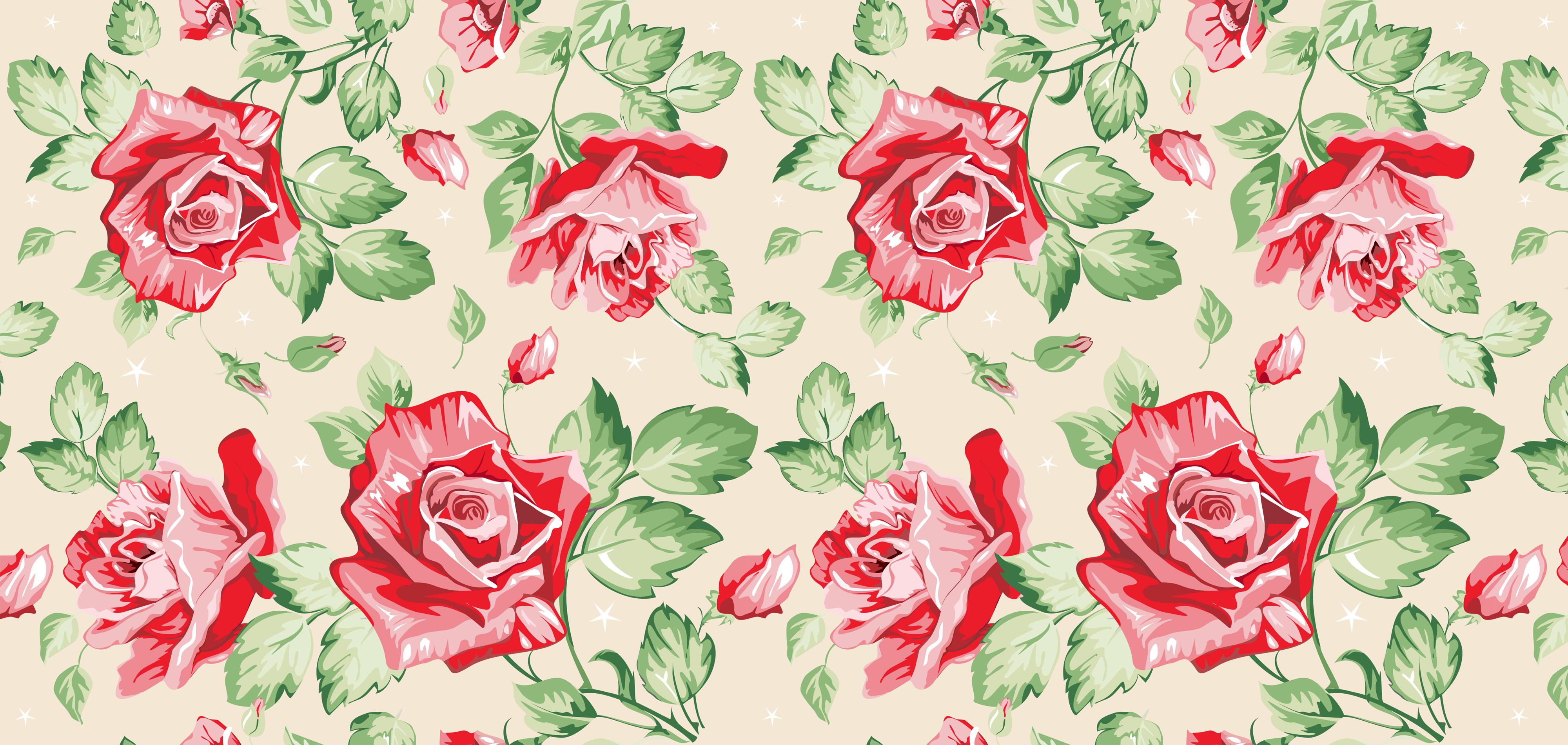 Flower Patterns 4000x1900