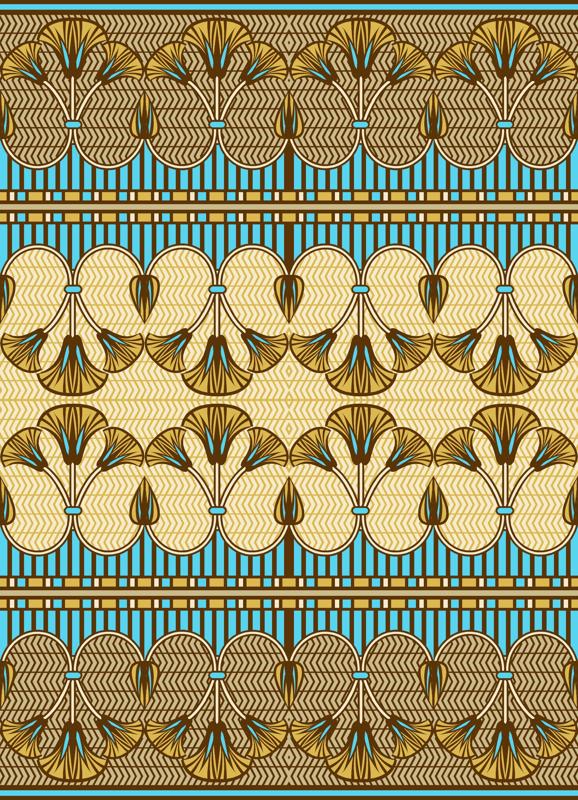 Egyptian Wallpaper Border Rregyptian ornate lily border 578x800