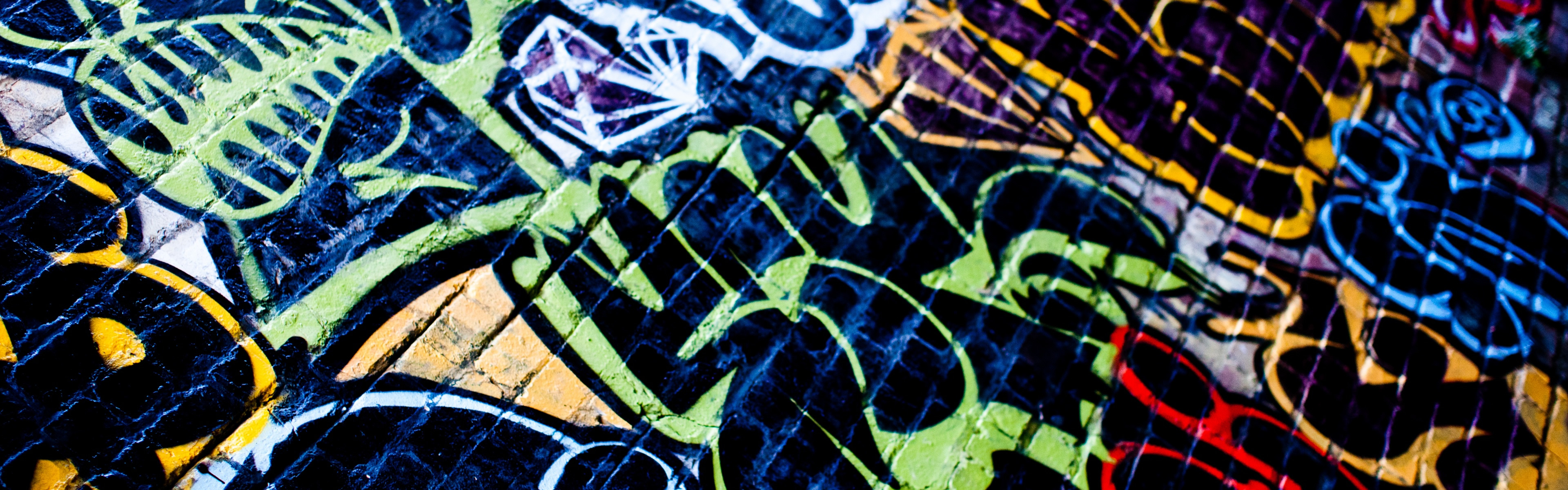 Graffiti iPhone Panoramic Wallpaper Download iPad Wallpapers 3840x1200