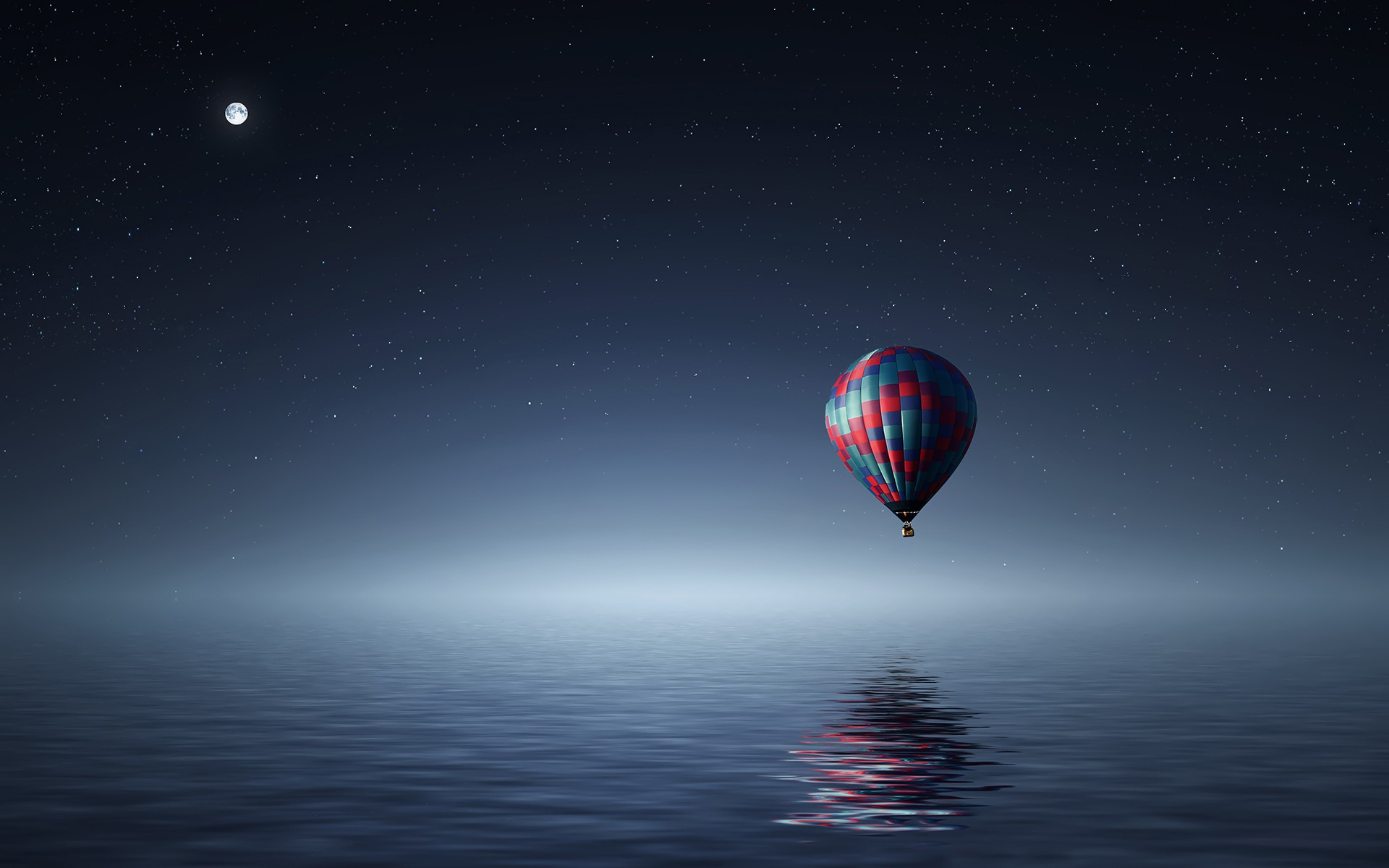 Hot air balloon over Sea Wallpapers HD Wallpapers 1920x1200