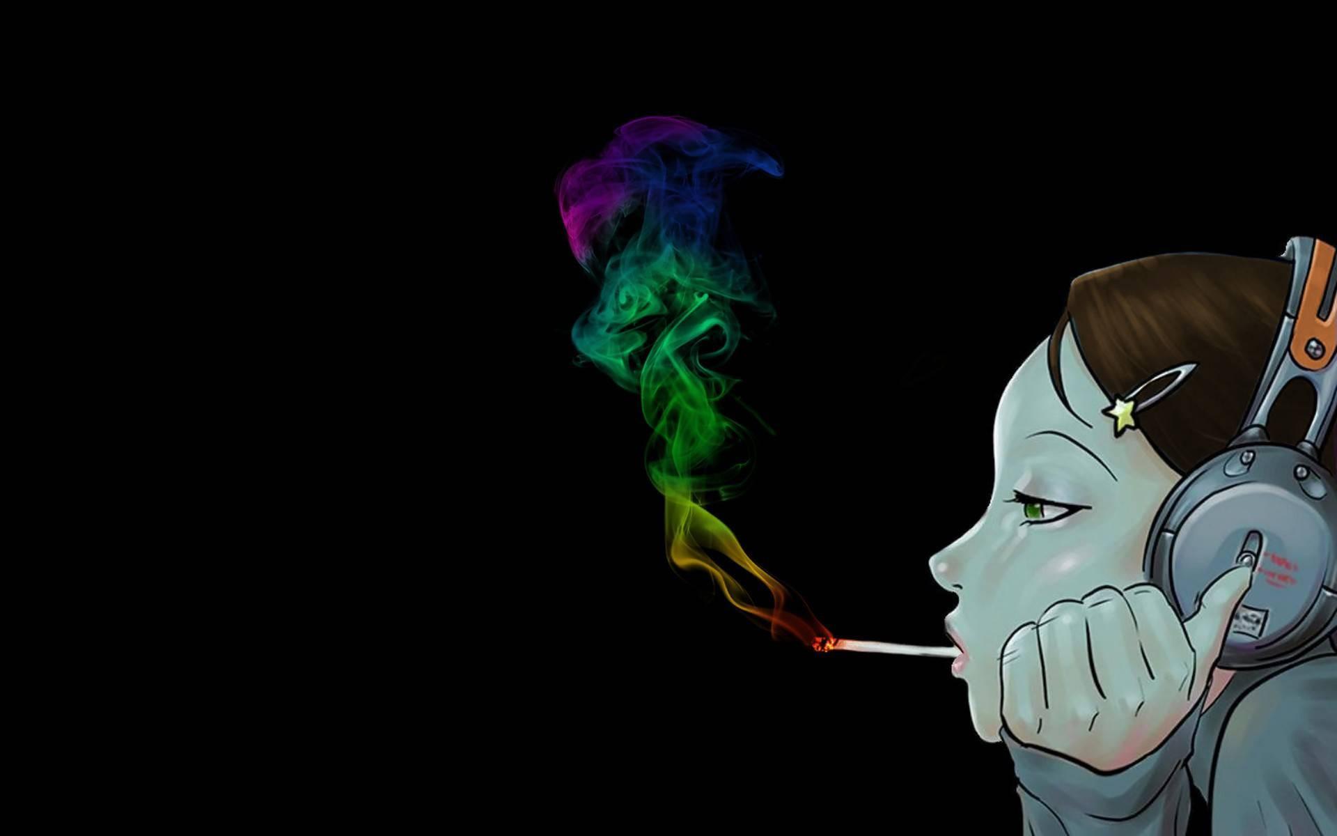 Girl Smoking Wallpaper...