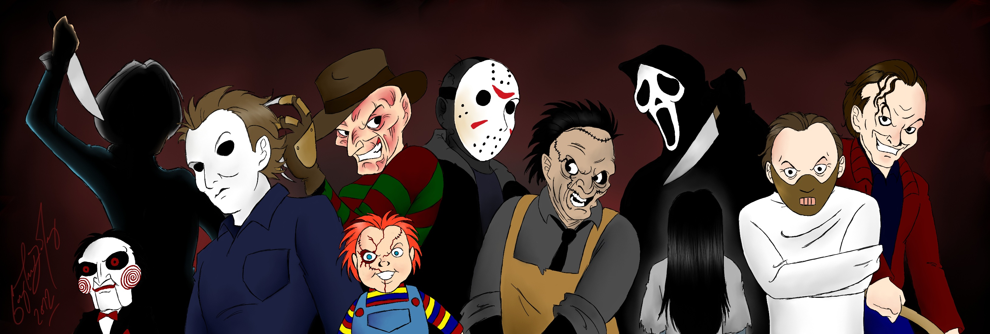 Horror movie icons wallpaper wallpapersafari for Deviantart wallpaper