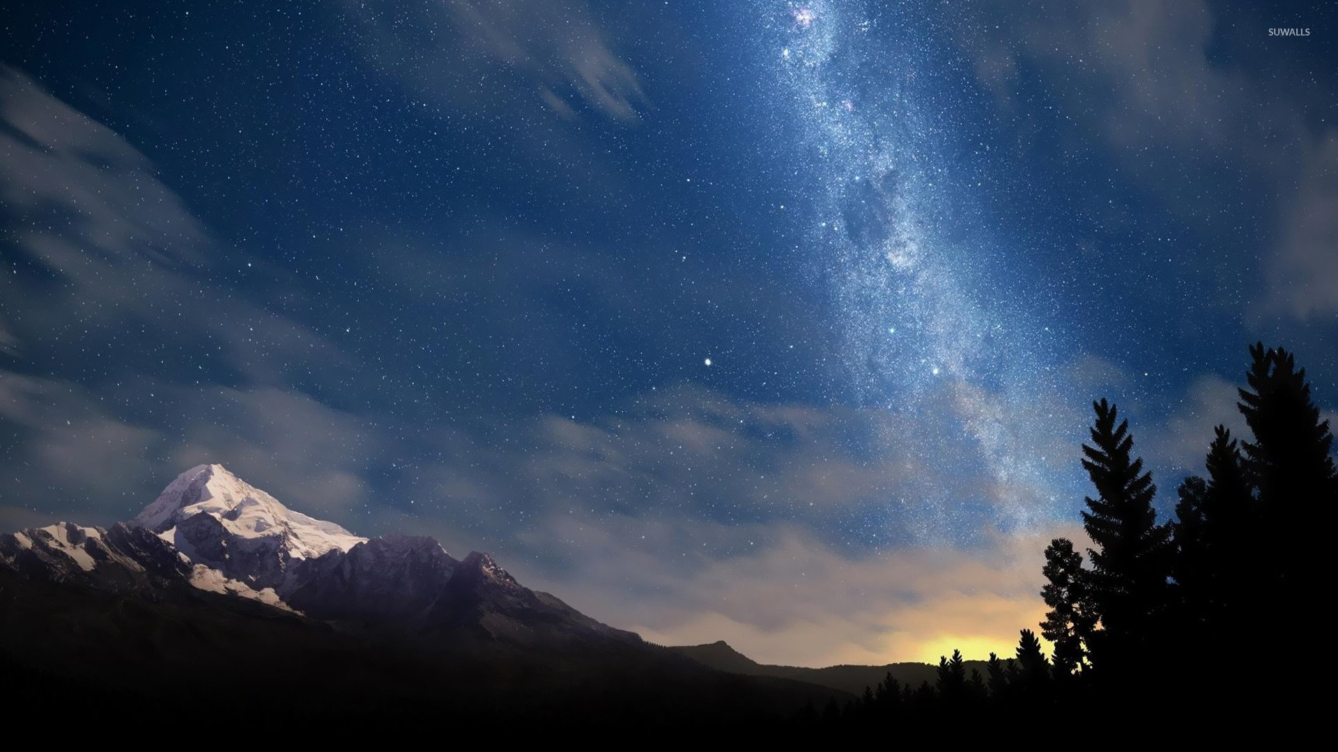 Starry night sky wallpaper   Nature wallpapers   14836 1920x1080