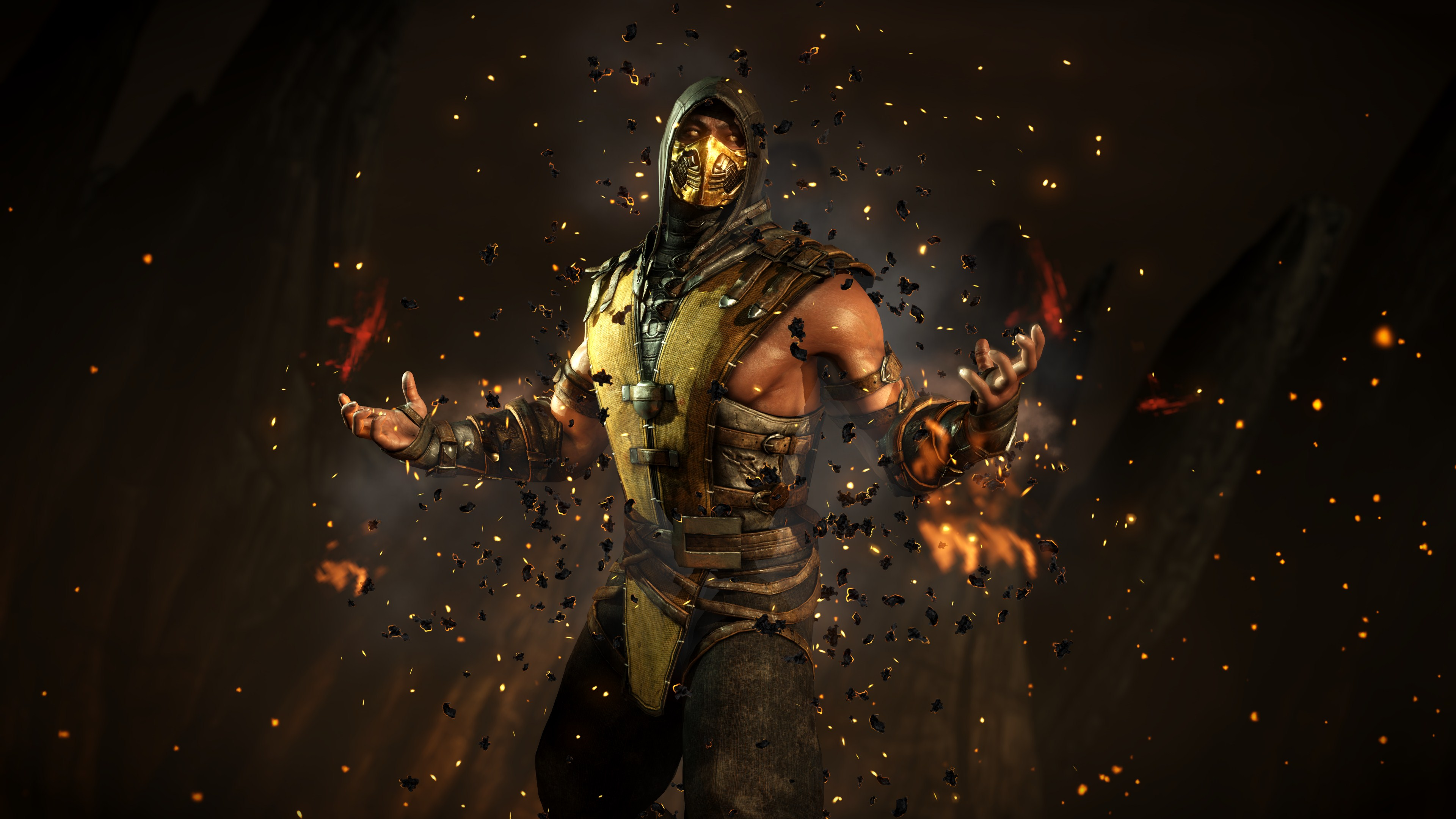 Mortal Kombat X Scorpion Wallpaper 3840x2160