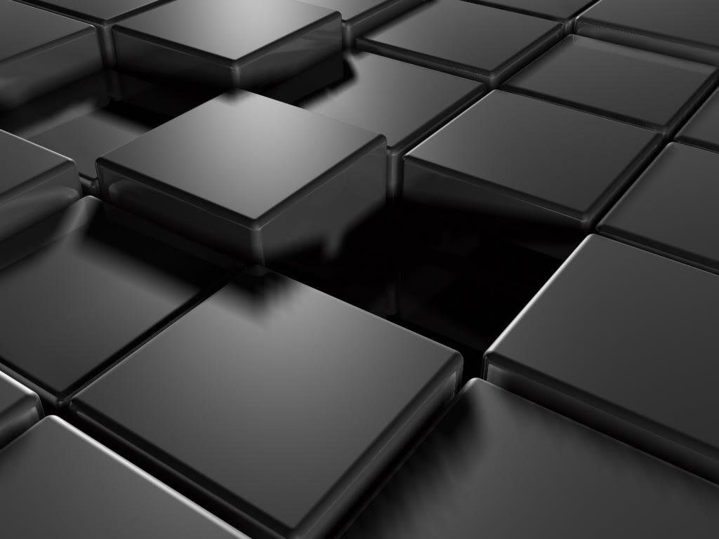 Black Cube Wallpaper 1024x768