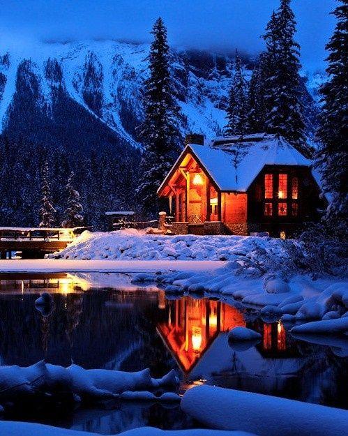 old cabin winter scene wallpaper - photo #28