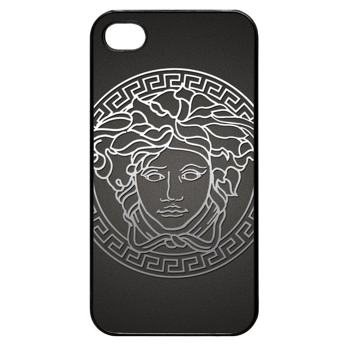 Versace White Logo In Grey Background iPhone 4 Case 700x700