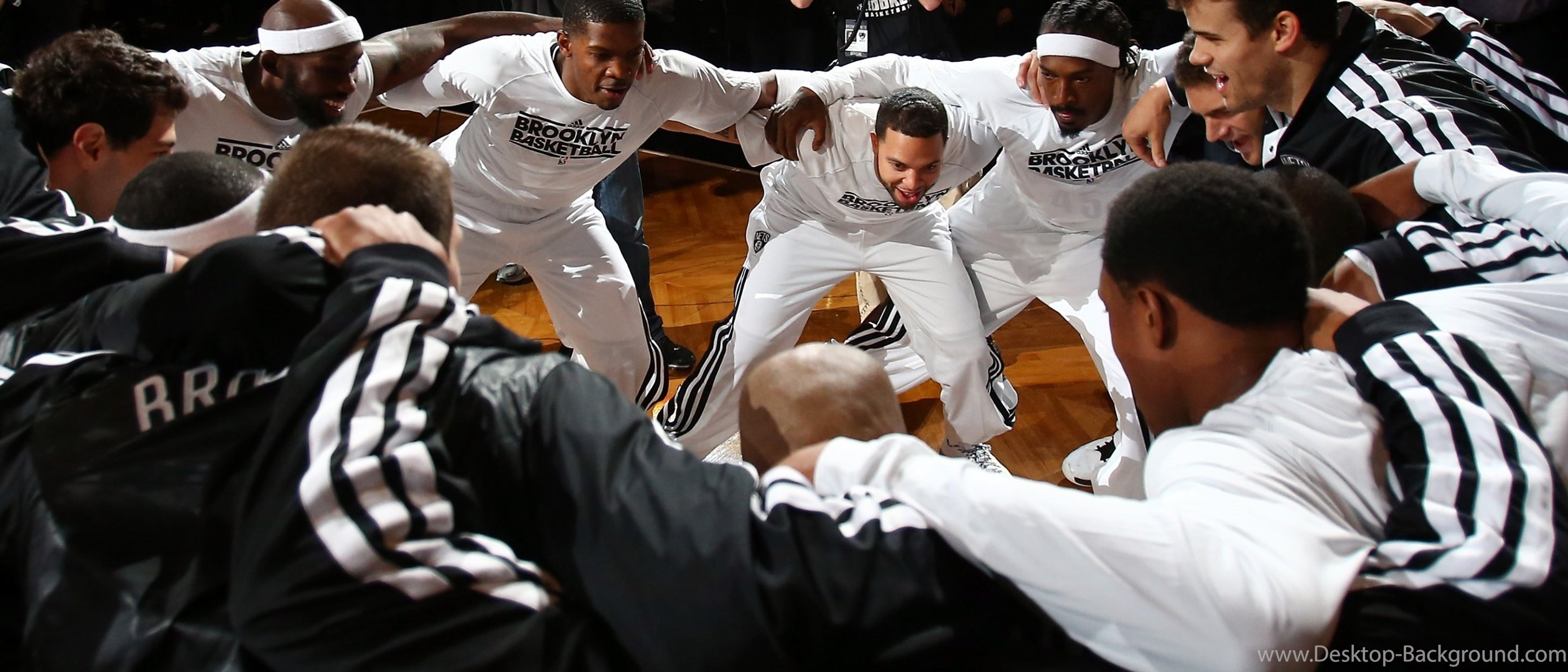 Wallpaper Deron Williams Joe Johnson Basketball 2520x1080