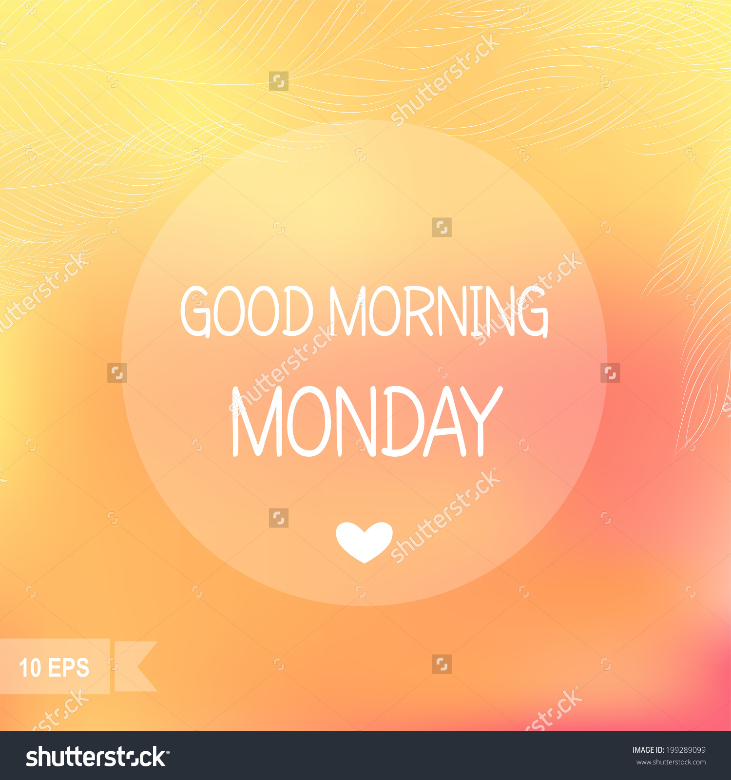 Days Of The Week Good Morning Monday On Blurred Background Stock 1500x1600