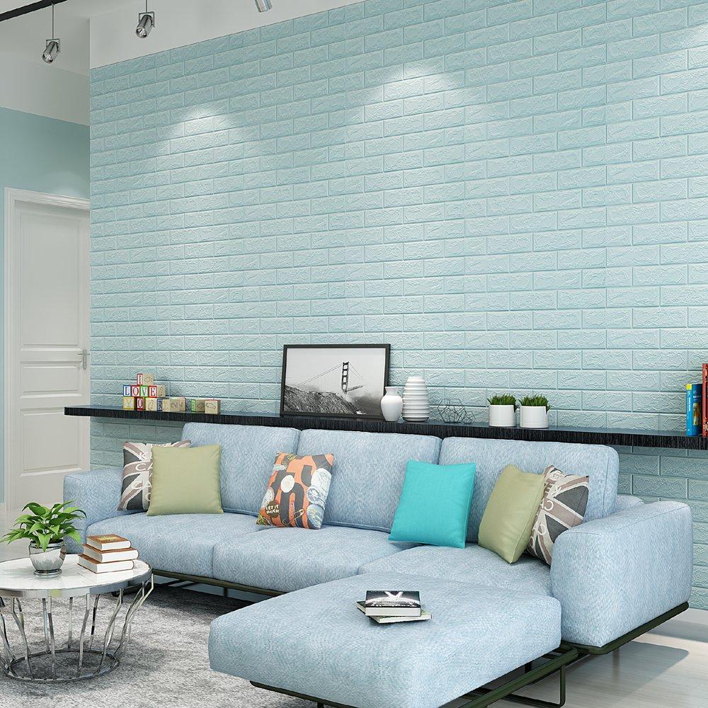 Amazoncom QIHANG Self Adhesive Waterproof Brick PE Wallpapers 3D 1000x1000