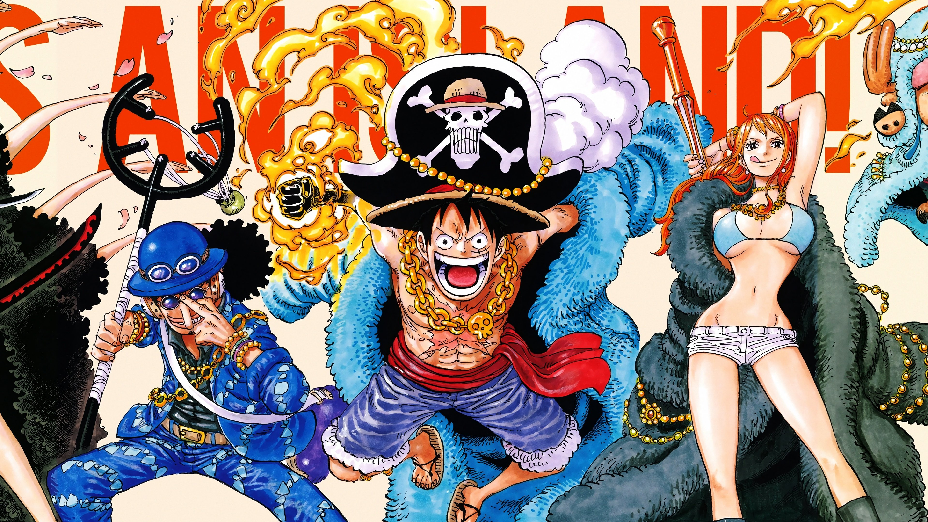 Luffy Usopp Nami One Piece 4K 8055 3840x2160