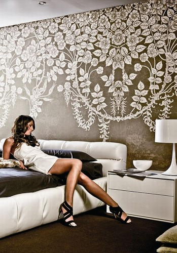 Wall decor contemporary patterns graphical wallpaper design 349x500