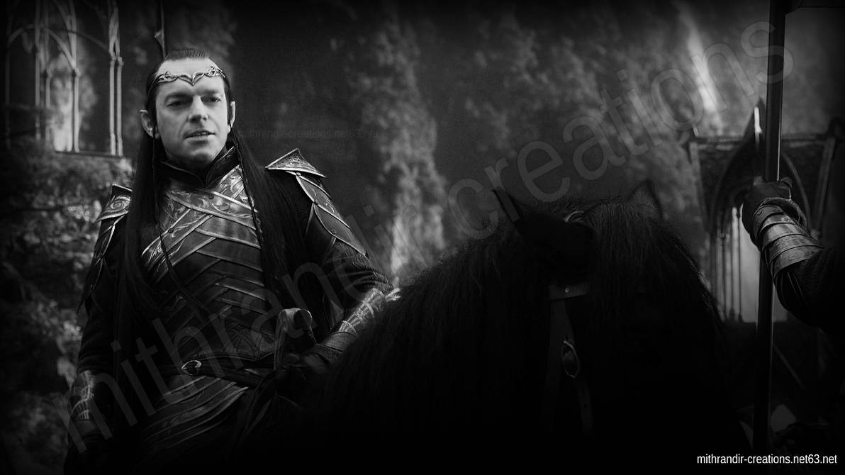 Lord Elrond Black and White by Mithrandir29 1192x670