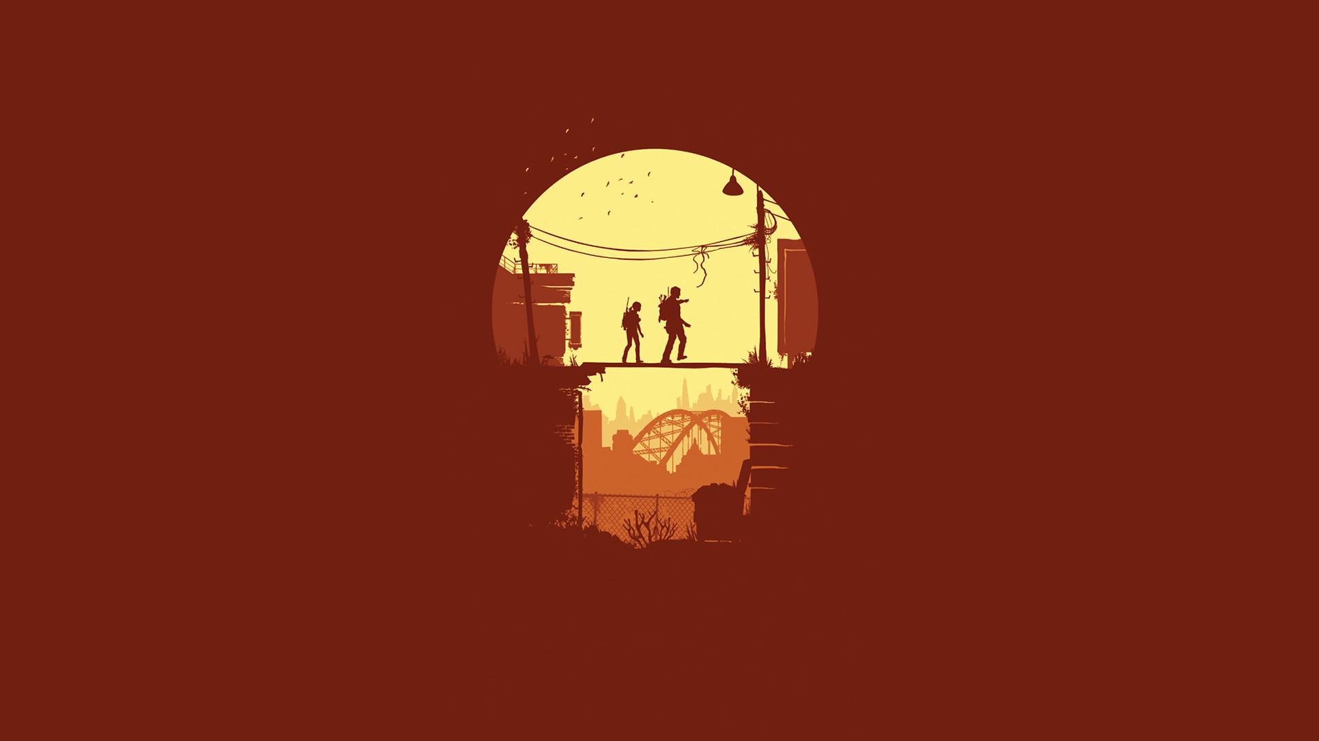 Minimalist Last of Us Wallpaper 1920x1080