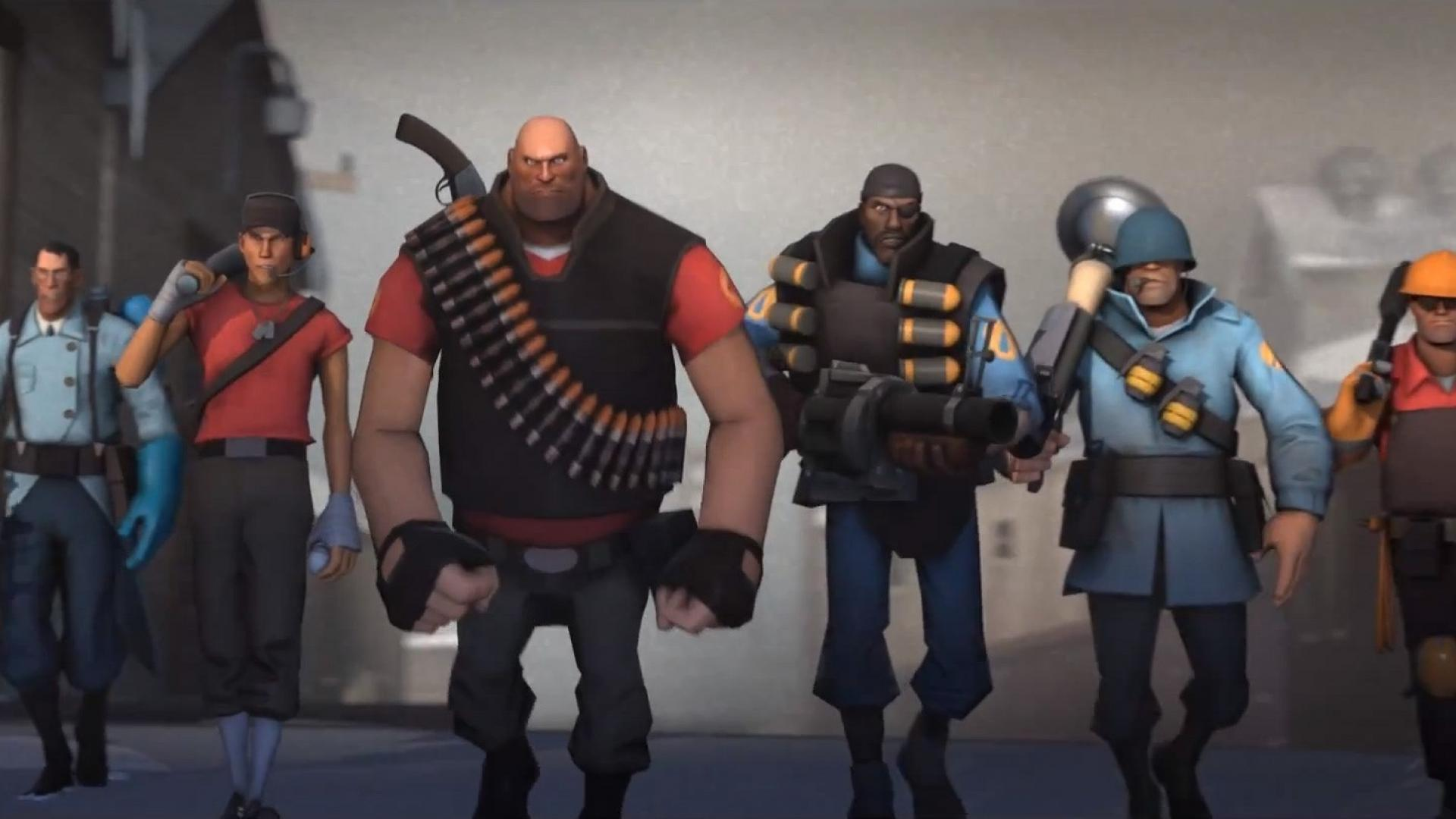 Free Download Tf2 Team Fortress 2 Medic Heavy Scout Wallpaper 4149