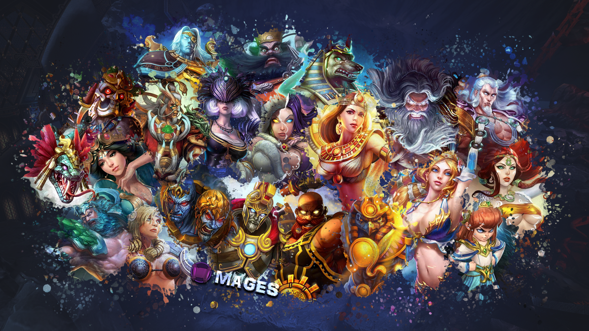 SMITE   Mages Wallpaper Ah Puch Edition by Getsukeii 1920x1080