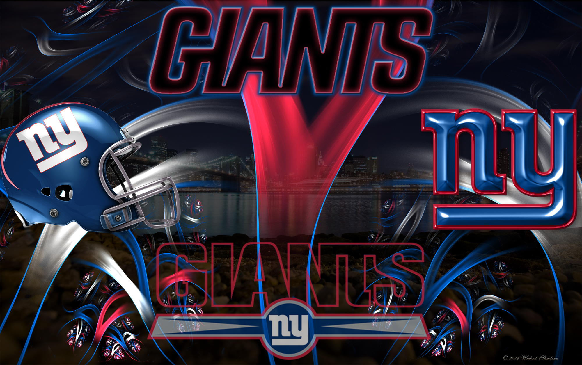 Wallpapers By Wicked Shadows New York Giants Wicked Wallpaper 2000x1255