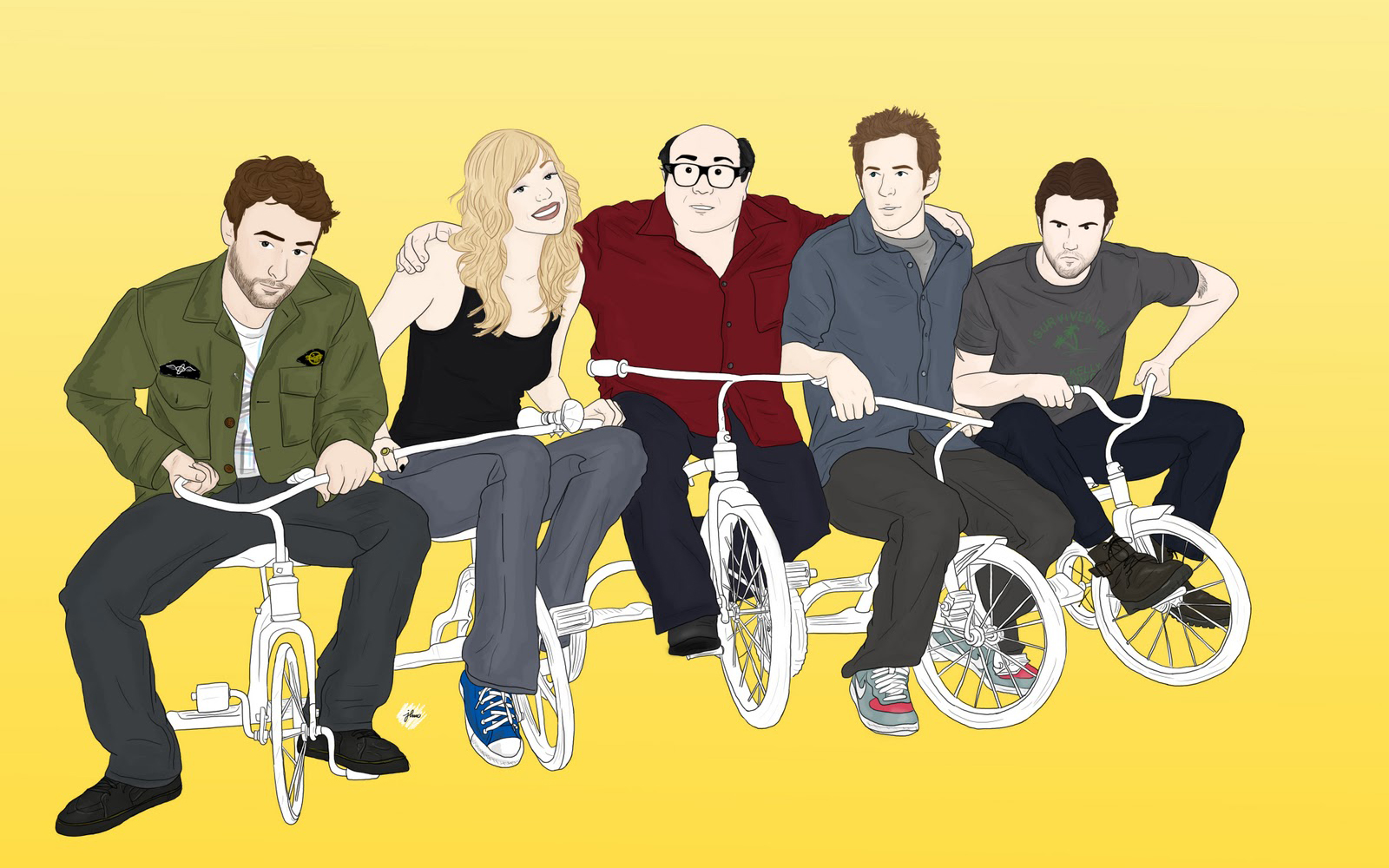 It's Always Sunny in Philadelphia Drawing Tricycle vector tv series ...