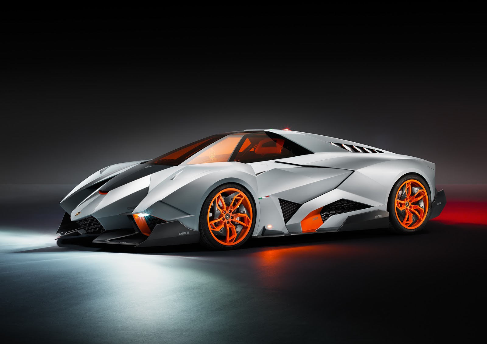 Lamborghini Egoista HD Wallpapers 1080p with orange tint glasses 1600x1131