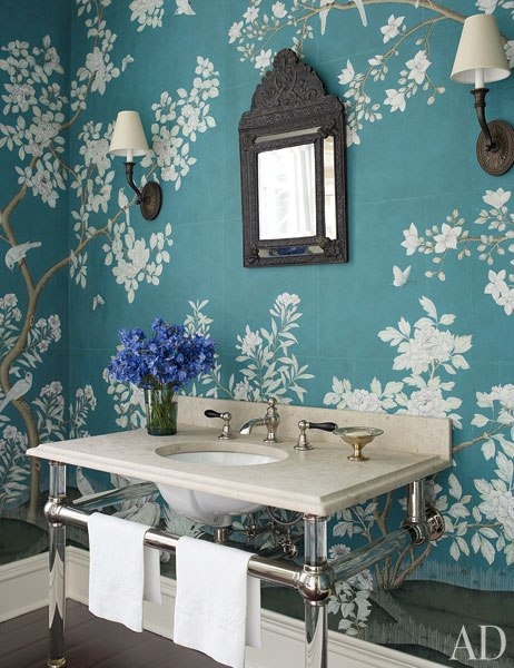 Chinoiserie Chic The Blue and White Chinoiserie Bathroom 462x600