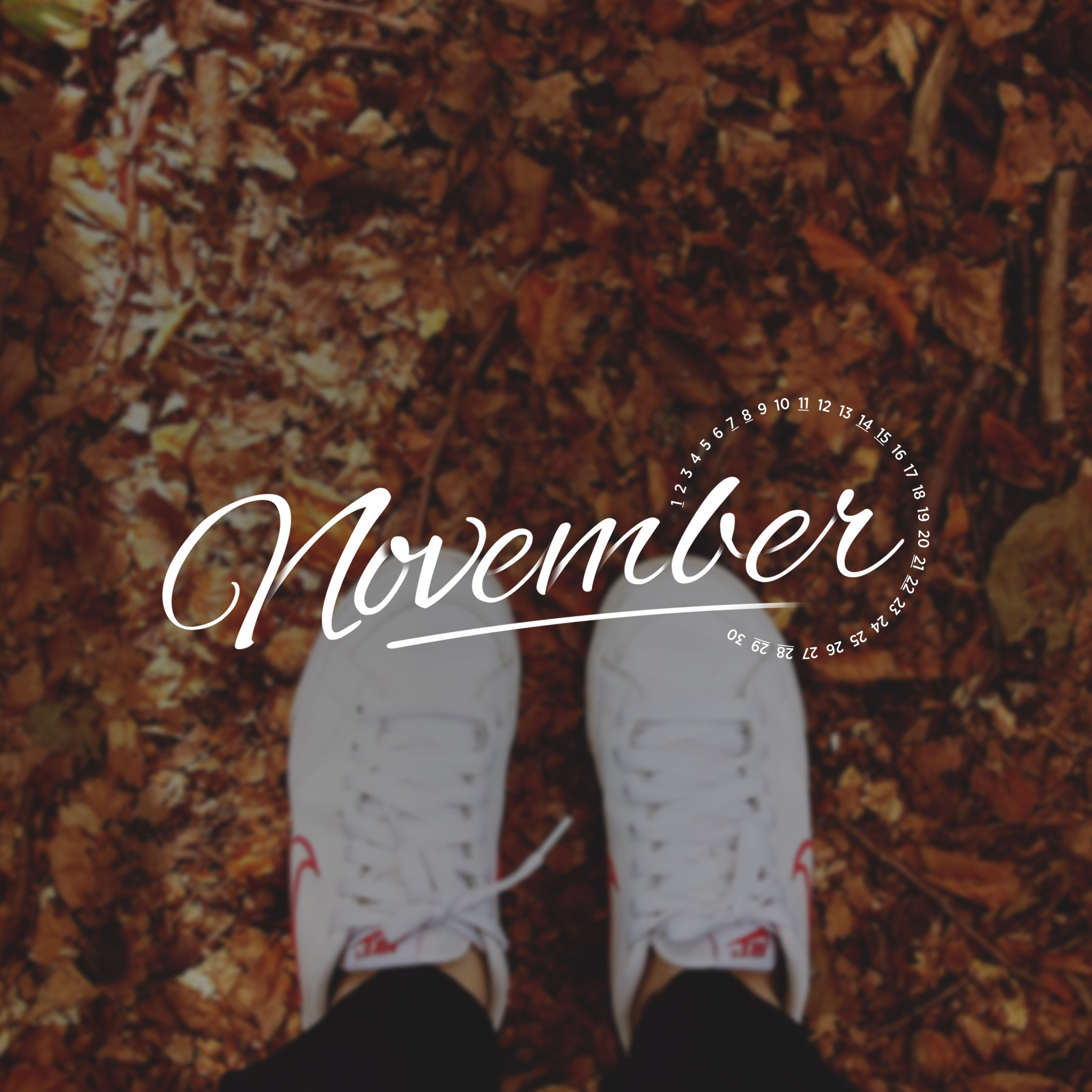 November 2015 Desktop Calendar Wallpaper | Paper Leaf