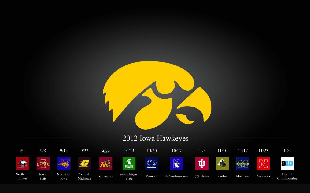 found a wallpaper for the Iowa Hawkeyes Football 2012 Season 1014x634