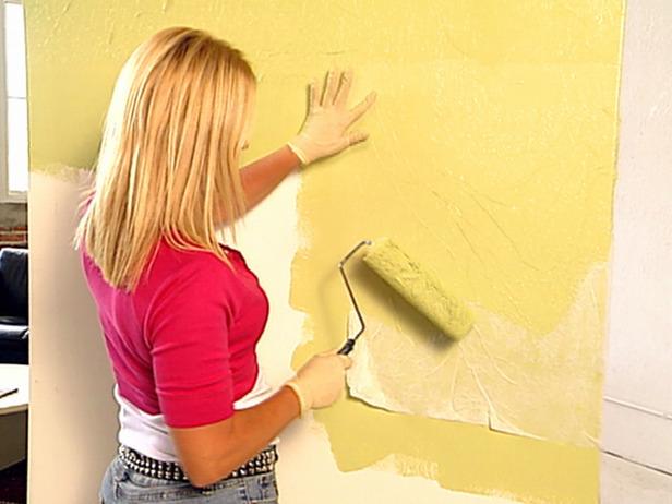 Decorative Paint Technique Crinkle Paper Painting how tos DIY 616x462