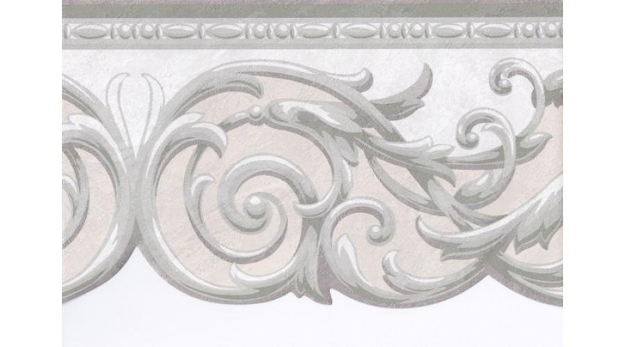 Home Green Grey Cream Silver Molding Wallpaper Border 900x500