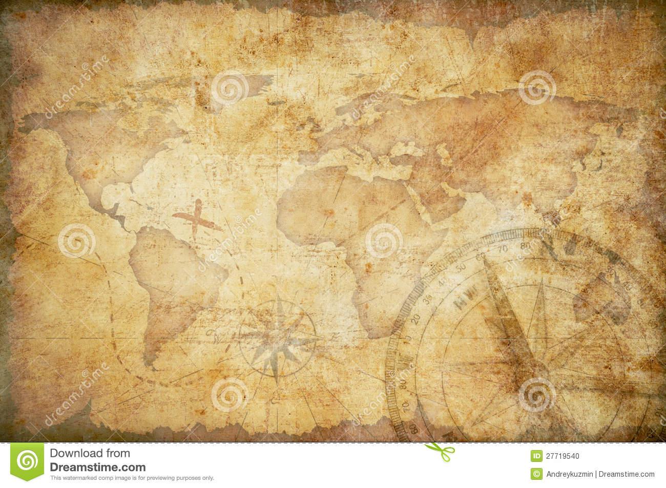 Aged Treasure Map Background Stock Photo   Image 27719540 1300x953