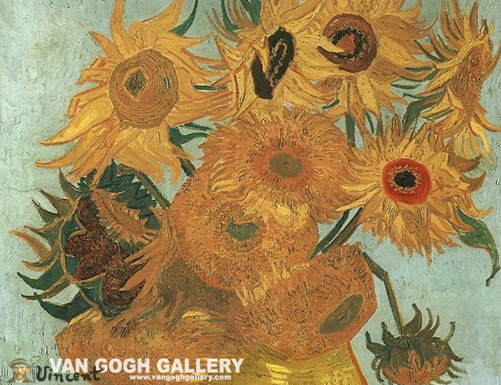 Sunflower Wallpaper Three To Return to Vincent van Gogh: Sunflowers