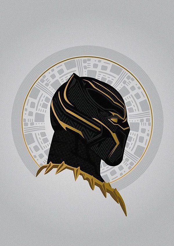 Golden Jaguar blackpanther marvel Black Panther Black 600x849