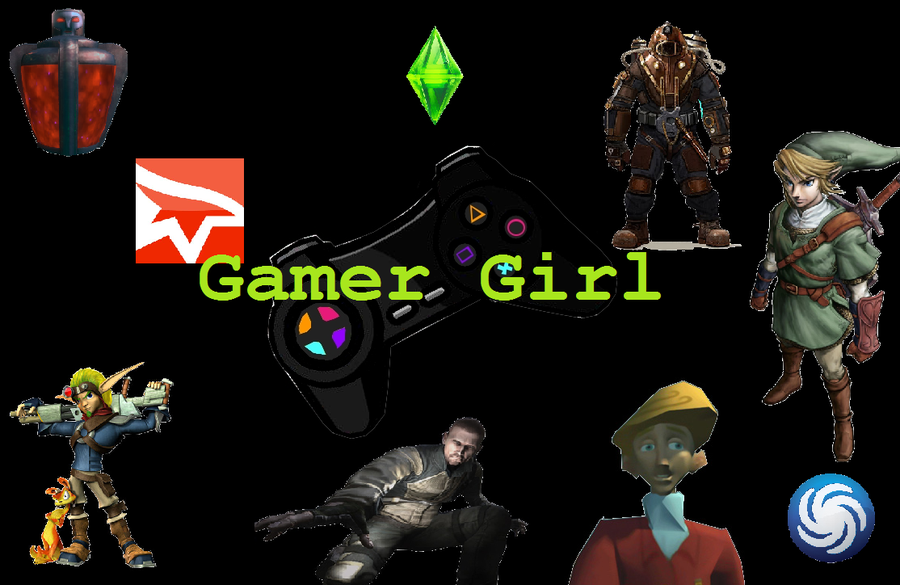 Gamer Girl Wallpaper by elektri cute14 900x585