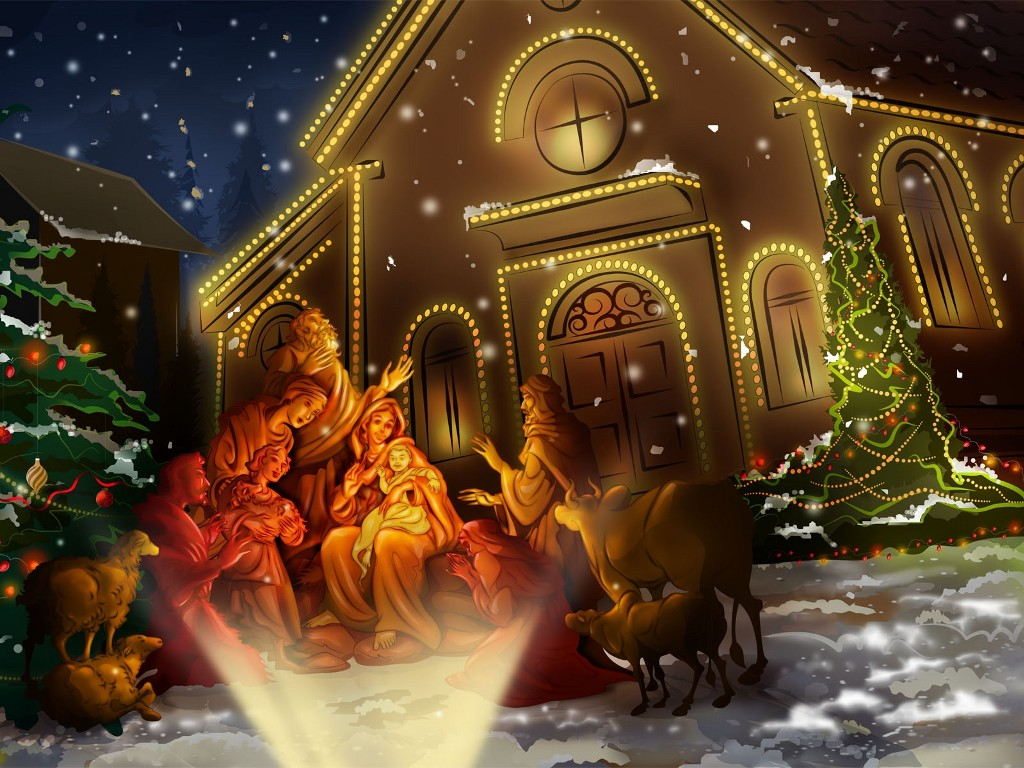 jesus birthday christmas wallpaper for download desktop 1024x768 1024x768