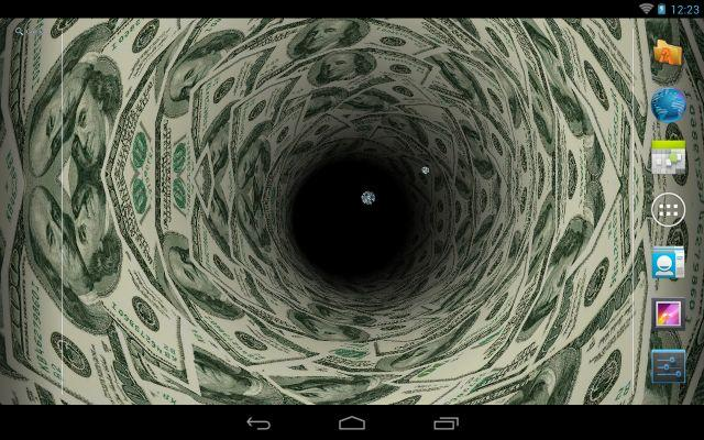 Money Tunnel Live Wallpaper   Android Apps on Google Play 640x400