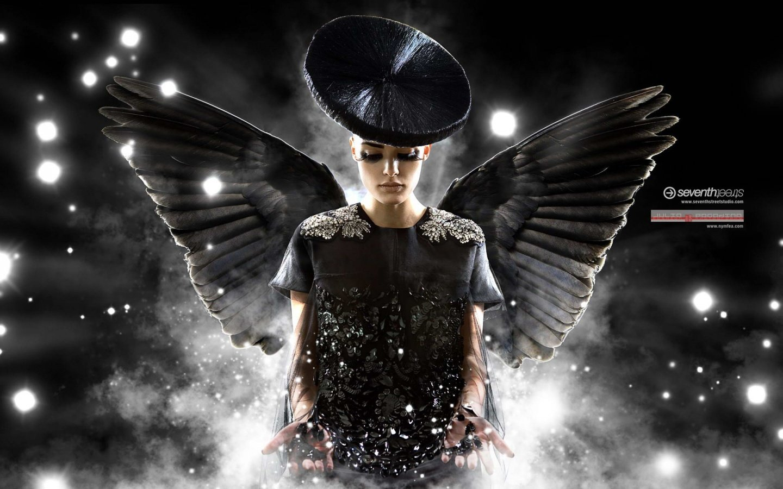 Black angel wallpapers 1440x900